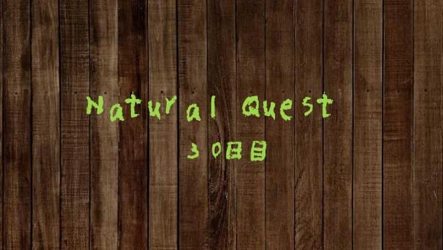 Natural Quest30日目