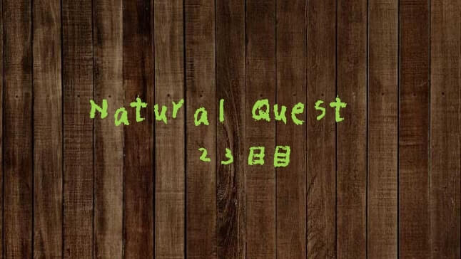 Natural Quest23日目