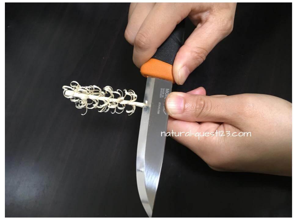 フェザースティック 割り箸 やり方