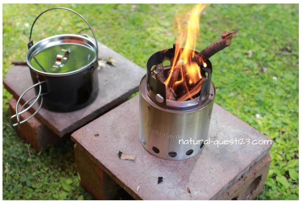 ソロストーブでお湯を沸かす